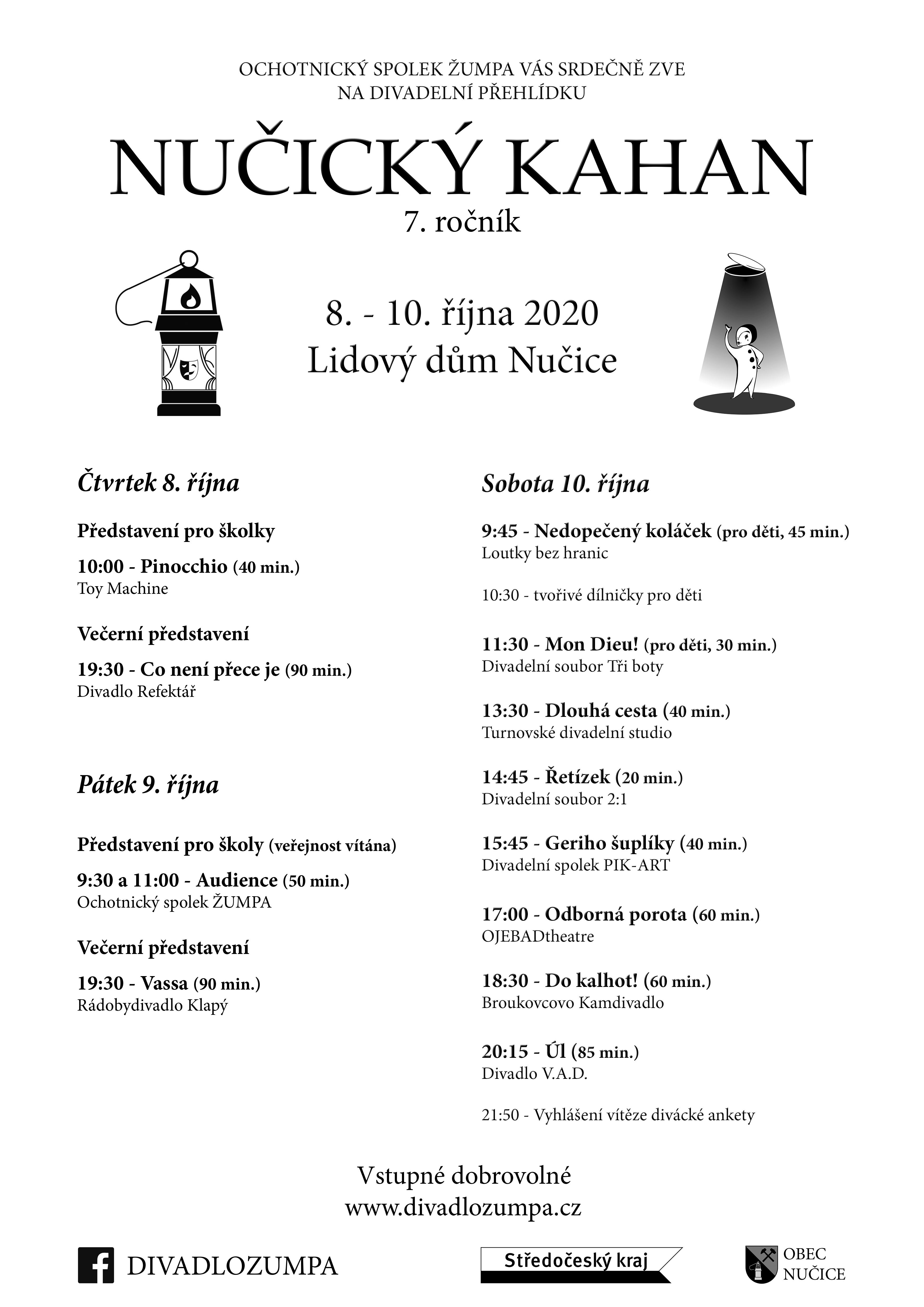 Nučický Kahan - divadelní přehlídka -Nučice (Praha - západ)
